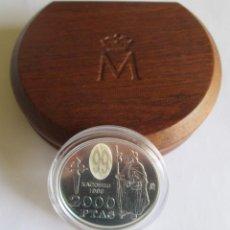 Monedas Juan Carlos I: 2000 PESETAS EN PLATA DE 1999, CONMEMORA EL AÑO JACOBEO. EN SU ESTUCHE ORIGINAL. JUAN CARLOS I. Lote 195476441