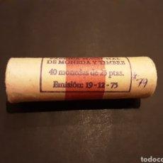 Monedas Juan Carlos I: CARTUCHO 40 MONEDAS DE 25 PESETAS ESPAÑA JUAN CARLOS I 1975 ESTRELLA 79 S/C. Lote 195521768