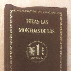Monedas Juan Carlos I: CARTERA CON TODAS LAS MONEDAS OFICIALES 1980*80, *81 I *82 DE FNMT DEL MUNDIAL DE FUTBOL ESPAÑA 1982. Lote 226742841