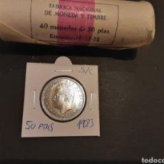 Monete Juan Carlos I: MONEDA 50 PESETAS 1983 .JUAN CARLOS I .S/C .SACADA DE CARTUCHO .ESPAÑA. Lote 196317171