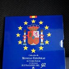 Monedas Juan Carlos I: CARTERA SET OFICIAL FNMT MONEDAS 1992. Lote 207965388