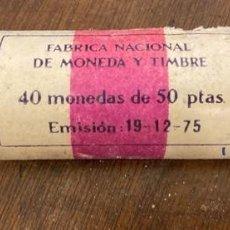Monedas Juan Carlos I: CARTUCHO FMNT DE 40 MONEDAS. 50 PESETAS DEL MUNDIAL 82. ESTRELLA *80*. SIN CIRCULAR. . Lote 197520228