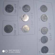 Monedas Juan Carlos I: 10 MONEDAS 5 PTS AÑOS CONSECUTIVOS. Lote 197761257