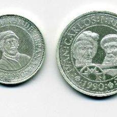 Monedas Juan Carlos I: QUINTO CENTENARIO 2ª SERIE PLATA. Lote 197887691