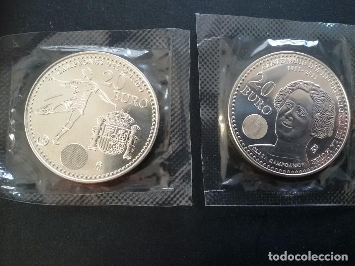 LOTE DE 2 MONEDAS DE 20E PLATA JUAN CARLOS I (Numismática - España Modernas y Contemporáneas - Juan Carlos I)