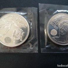 Monedas Juan Carlos I: LOTE DE 2 MONEDAS DE 20E PLATA JUAN CARLOS I. Lote 198048846