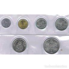 Monnaies Juan Carlos I: ESPAÑA : COLECCIÓN COMPLETA AÑO 1980 (81) MUNDIAL 82 SIN CIRCULAR, DE CARTUCHO FNMT. Lote 198828347