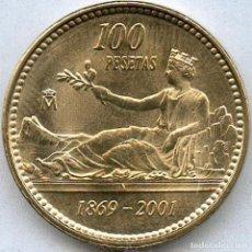 Monedas Juan Carlos I: MONEDA DE 100 PESETAS 2001 SIN CIRCULAR, SIN, CIRCULAR. Lote 199050812