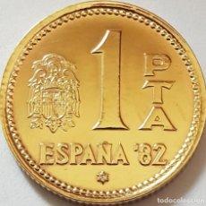 Monedas Juan Carlos I: LOTE DE 10 MONEDAS ESPAÑA 1 PESETA 1980 SIN CIRCULAR DE CARTUCHO *82*. Lote 199060047