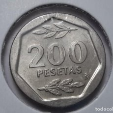 Monedas Juan Carlos I: MONEDA 200 PESETAS 1986 EBC LA DE LA FOTO. Lote 199073115