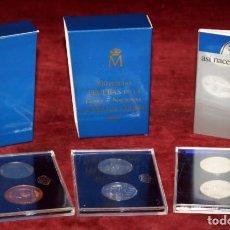 Monedas Juan Carlos I: MONEDAS DE 500 PESETAS - PRUEBAS DE LA FÁBRICA NACIONAL DE MONEDA Y TIMBRE - ANIVERSARIO BODA REAL. Lote 199552993