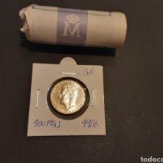 Monedas Juan Carlos I: MONEDA 100 PESETAS 1986 JUAN CARLOS I SIN CIRCULAR SACADA DE CARTUCHO ESPAÑA. Lote 247705650