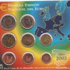Monedas Juan Carlos I: AÑO 2002 BLISTER DE LA CASA DE LA MONEDA , EUROS SIN CIRCULAR .. Lote 201965775