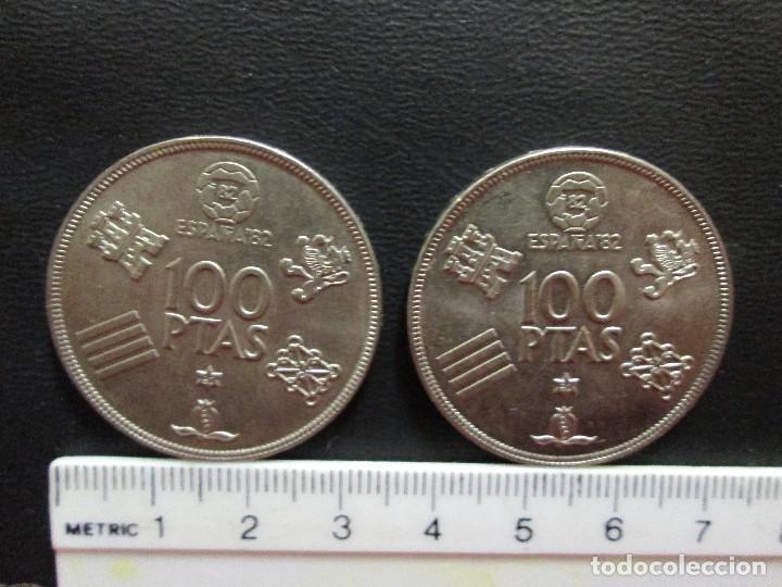 2 MONEDAS 100 PESETAS 1980 ESTRELLA 80 MUNDIAL ESPAÑA 82 (Numismática - España Modernas y Contemporáneas - Juan Carlos I)