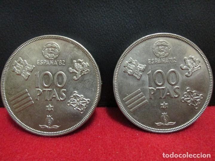 Monedas Juan Carlos I: 2 MONEDAS 100 PESETAS 1980 ESTRELLA 80 MUNDIAL ESPAÑA 82 - Foto 3 - 202683962