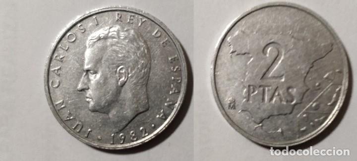 MONEDA DE 2 PESETAS REY JUAN CARLOS I, 1982 (Numismática - España Modernas y Contemporáneas - Juan Carlos I)