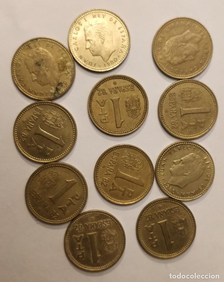 11 MONEDAS DE 1 PESETA, REY JUAN CARLOS I, 1982 (Numismática - España Modernas y Contemporáneas - Juan Carlos I)