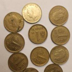 Monedas Juan Carlos I: 11 MONEDAS DE 1 PESETA, REY JUAN CARLOS I, 1982. Lote 203106525