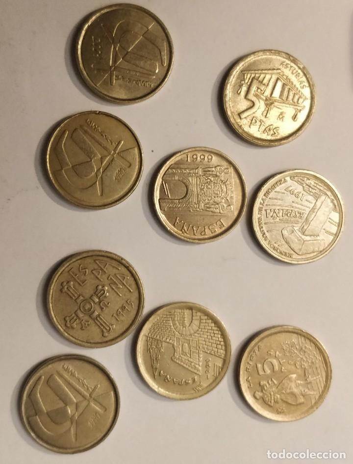 9 MONEDAS DE 5 PESETAS, REY JUAN CARLOS I 1996 Y OTROS (Numismática - España Modernas y Contemporáneas - Juan Carlos I)