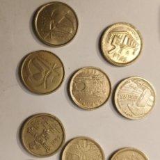 Monedas Juan Carlos I: 9 MONEDAS DE 5 PESETAS, REY JUAN CARLOS I 1996 Y OTROS. Lote 203106563
