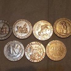 Monedas Juan Carlos I: LOTE 7 MONEDAS DIFERENTES 200 PESETAS. JUAN CARLOS I. ESPAÑA. 90, 91, 92, 92, 96, 97 Y 97. Lote 203439996