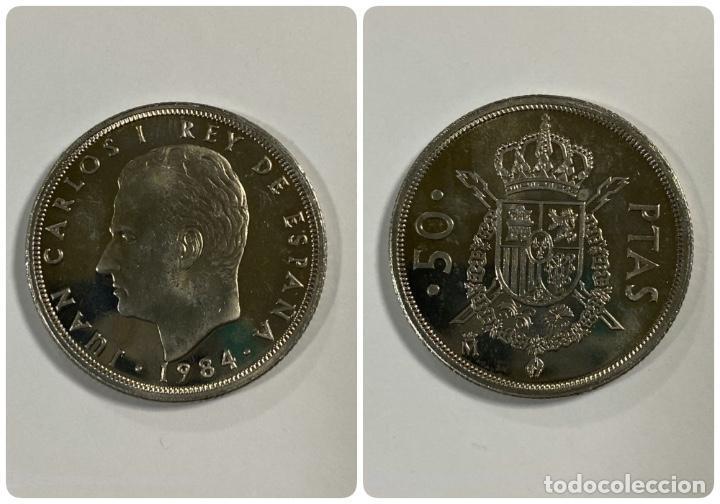 MONEDA. ESPAÑA. 50 PESETAS. JUAN CARLOS I. 1984. S/C. VER FOTOS. (Numismática - España Modernas y Contemporáneas - Juan Carlos I)