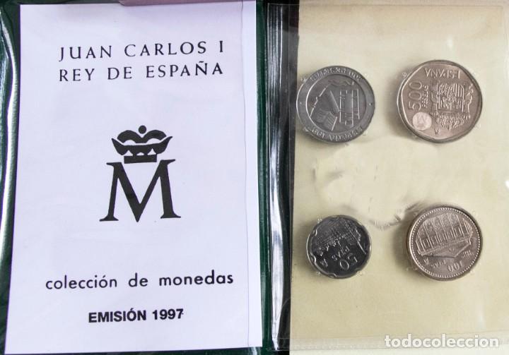 Monedas Juan Carlos I: CARTERA OFICIAL SERIE NUMISMATICA DE LA FNMT EMISION 1997 J.CARLOS - Foto 2 - 268771934