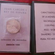 Monedas Juan Carlos I: 2000 PESETAS PLATA 1995 CARTERA OFICIAL. Lote 205003553
