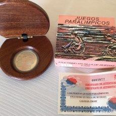 Monedas Juan Carlos I: 1.000 PESETAS AÑO 2000 PARALIMPICOS SILLA DE RUEDAS. Lote 205361337