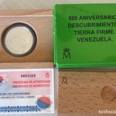 Monedas Juan Carlos I: 3 EUROS 1998 500 ANIVERSARIO DESCUBRIMIENTO TIERRA FIRME VENEZUELA. Lote 205368122