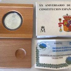 Monedas Juan Carlos I: 1.000 PESETAS AÑO 1998 XX ANIVERSARIO DE LA CONSTITUCIÓN ESPAÑOLA. Lote 205369377