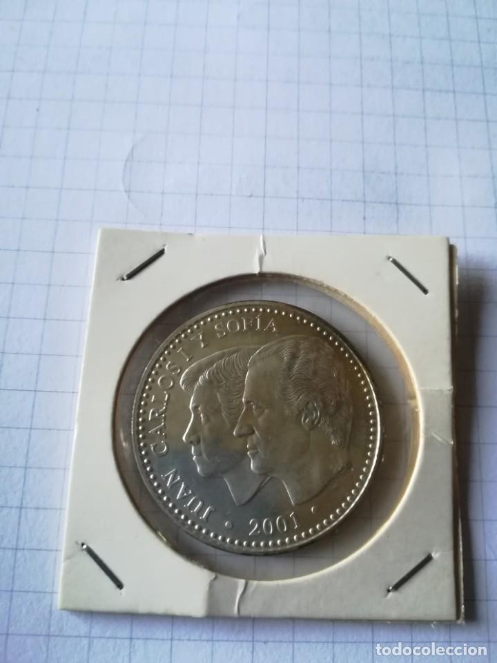 Monedas Juan Carlos I: MONEDA PLATA. CALIDAD PROF. 2000 pts. Año 2001 - Foto 2 - 205606091