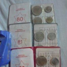 Monedas Juan Carlos I: LOTE CARTERITAS O SET MONEDAS MUNDIAL 82 ESTRELLA 80 81 Y 82. Lote 205643427