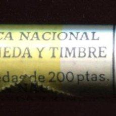 Monedas Juan Carlos I: CARTUCHO ORIGINAL FNMT COMPLETO DE 200 PESETAS DE 1987 FLOR DE CUÑO. Lote 205746502