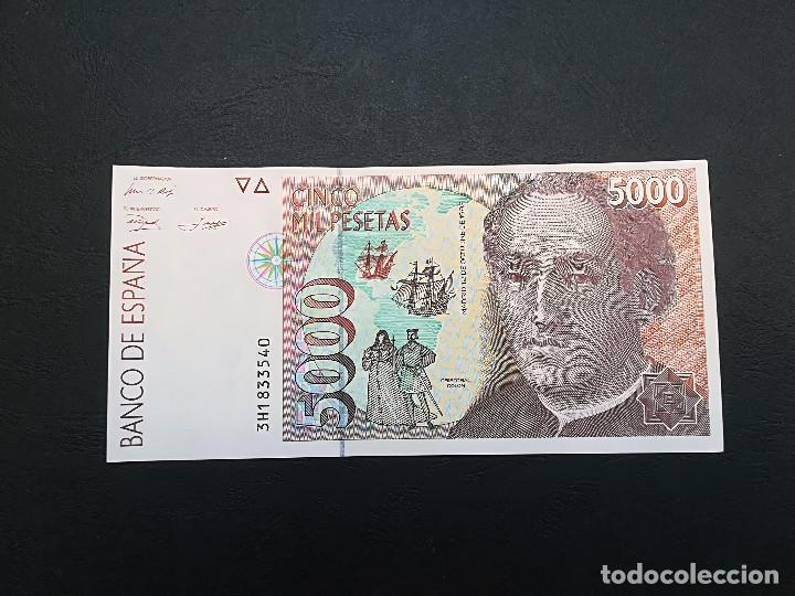 BILLETE DE 5000 PESETAS DE JUAN CARLOS I DEL AÑO 1992.S/C.PLANCHA! (SERIE 3H), usado segunda mano
