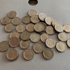 Monedas Juan Carlos I: LOTE 35 MONEDAS. 200 PESETAS 1986-87-88. Lote 206246638