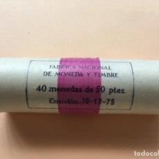 Monete Juan Carlos I: CARTUCHO MONEDAS JUAN CARLOS I - 40 MONEDAS 50 PESETAS 1980 *81 MUNDIAL DE FÚTBOL. Lote 195609421