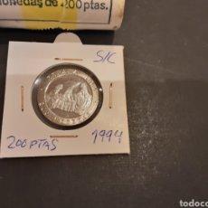 Monedas Juan Carlos I: MONEDA 200 PESETAS 1994 JUAN CARLOS I S/C SACADA DE CARTUCHO ESPAÑA LAS MENINAS. Lote 227459340
