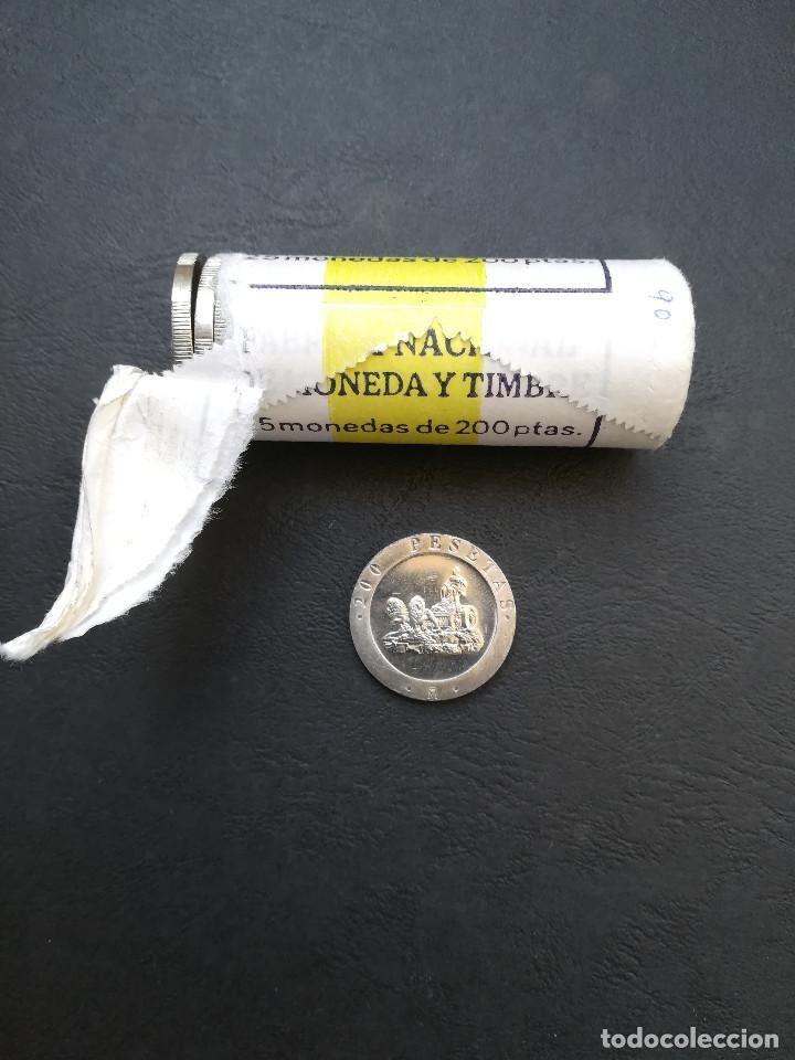 Monedas Juan Carlos I: MONEDA DE 200 PESETAS DE JUAN CARLOS I.DEL AÑO 1990.(CIBELES) S/C.SACADA DE CARTUCHO! - Foto 3 - 207007725