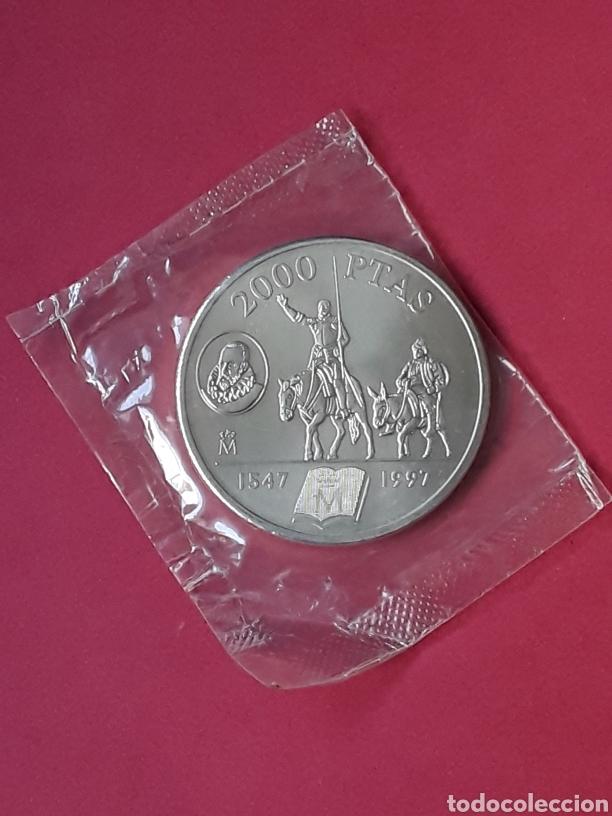 JUAN CARLOS I 2000 PESETAS PLATA. 1997. MIGUEL DE CERVANTES (Numismática - España Modernas y Contemporáneas - Juan Carlos I)