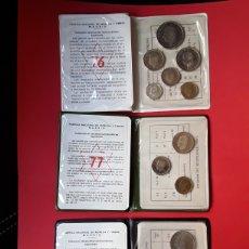 Monedas Juan Carlos I: CARTERAS PRUEBAS NUMISMATICAS FNMT 1976,1977 Y 1979. PROOF. Lote 207041210