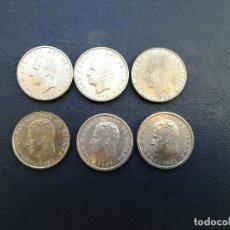 Monedas Juan Carlos I: LOTE DE 6 MONEDAS DE 100 PESETAS DE JUAN CARLOS I.TODAS DE DIFERENTES AÑOS,CASI SIN CIRCULAR!. Lote 207218193