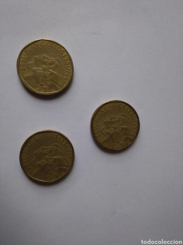 Monedas Juan Carlos I: Tres monedas españolas - Foto 2 - 207256280