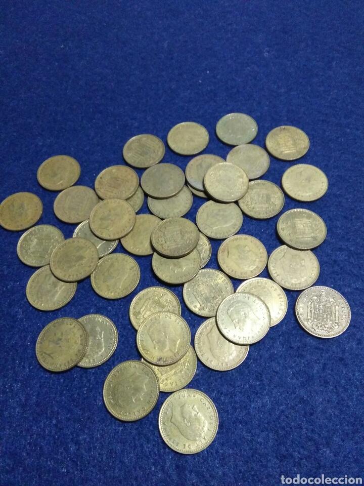 LOTE DE 43 MONEDAS DE 1 PST JUAN CARLOS I SIN DETERMINAR (Numismática - España Modernas y Contemporáneas - Juan Carlos I)