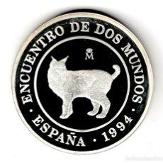 Monedas Juan Carlos I: ESPAÑA 2000 PESETAS PLATA 1994 PROOF LINCE IBERICO - ENCUENTRO ENTRE DOS MUNDOS. Lote 210441152
