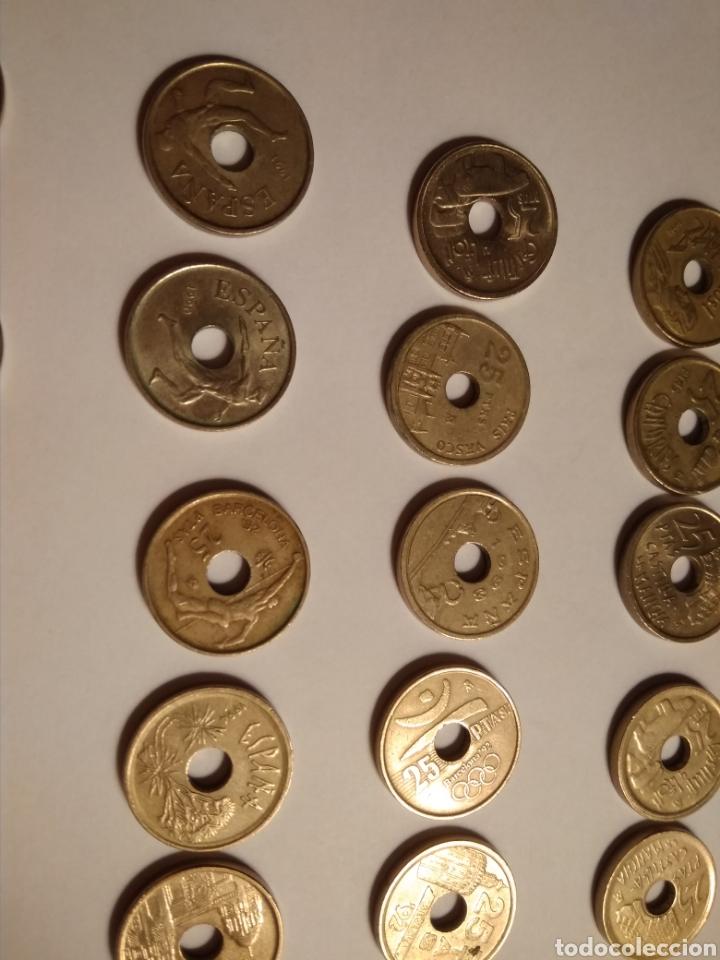 Monedas Juan Carlos I: 45 monedas de 25 pesetas década los 90. - Foto 8 - 210979256