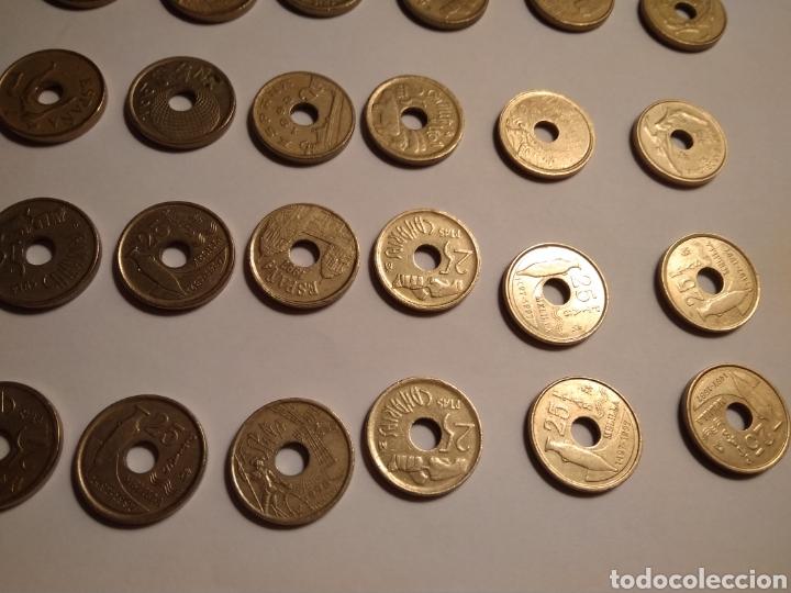 Monedas Juan Carlos I: 45 monedas de 25 pesetas década los 90. - Foto 11 - 210979256