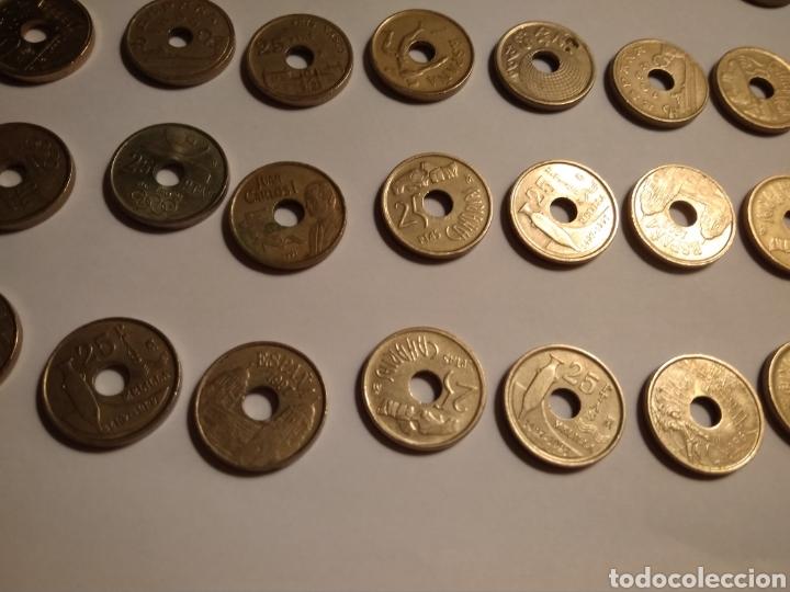 Monedas Juan Carlos I: 45 monedas de 25 pesetas década los 90. - Foto 12 - 210979256