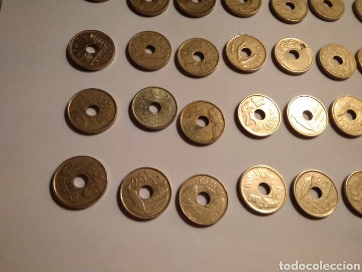 Monedas Juan Carlos I: 45 monedas de 25 pesetas década los 90. - Foto 13 - 210979256