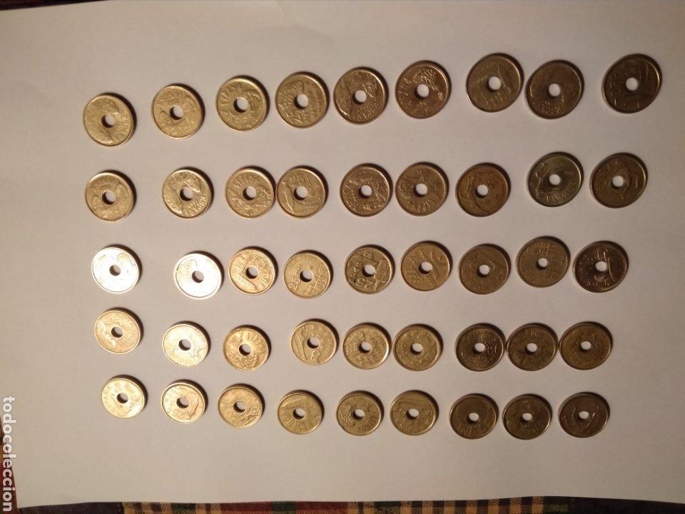 45 MONEDAS DE 25 PESETAS DÉCADA LOS 90. (Numismática - España Modernas y Contemporáneas - Juan Carlos I)